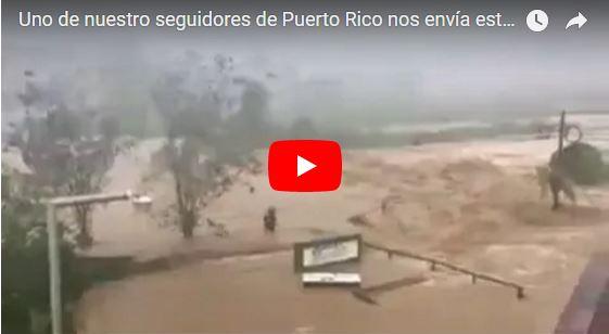Ríos desbordados por le Huracán María en Puerto Rico