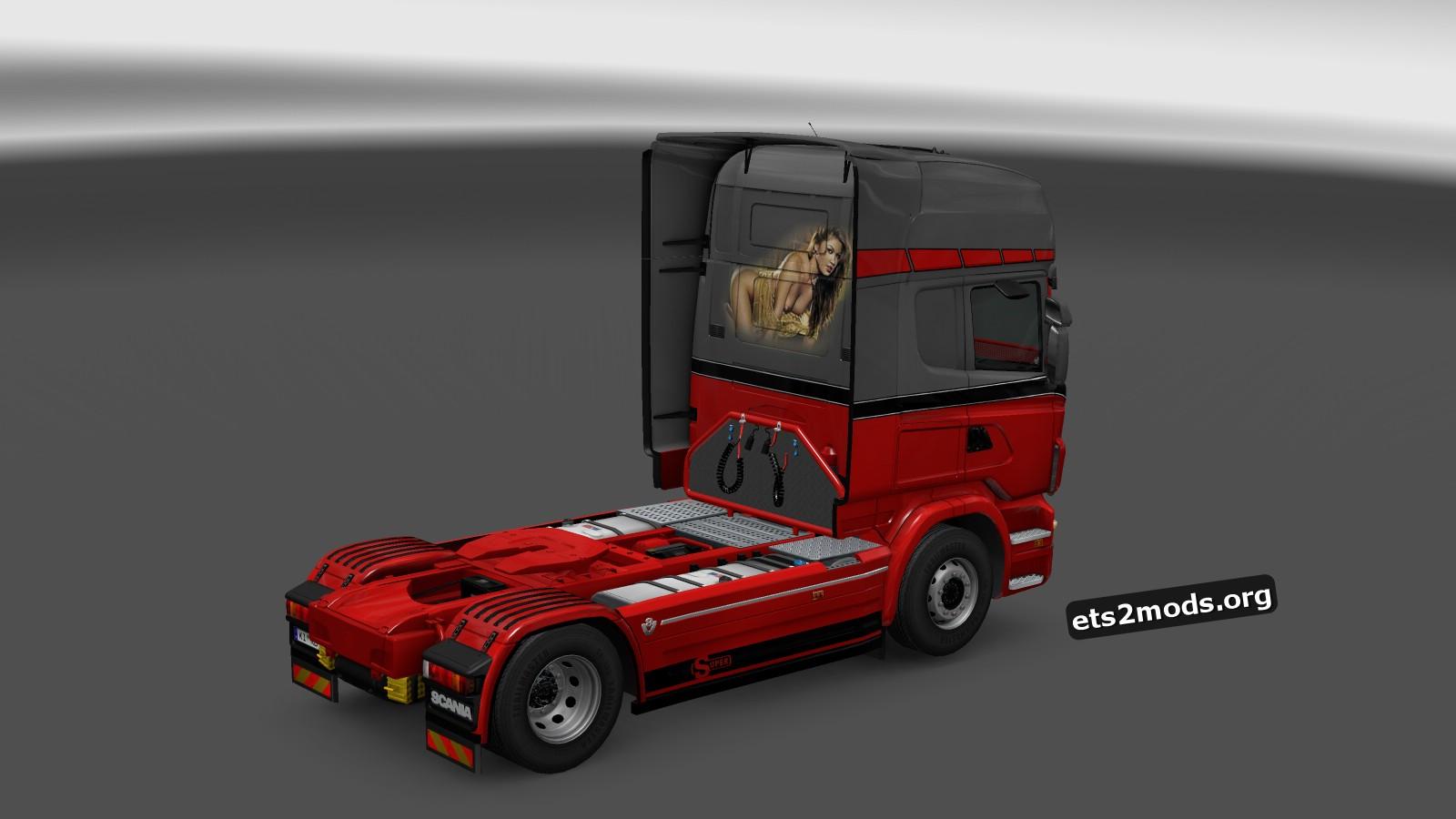 Scania RJL Red Devil Women Skin