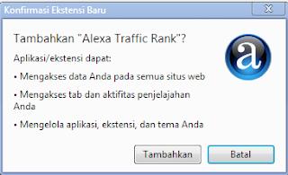 Memasang Alexa Toolbar