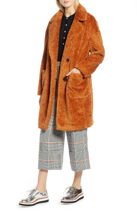 Halogen x Atlantic-Pacific Faux Fur Coat