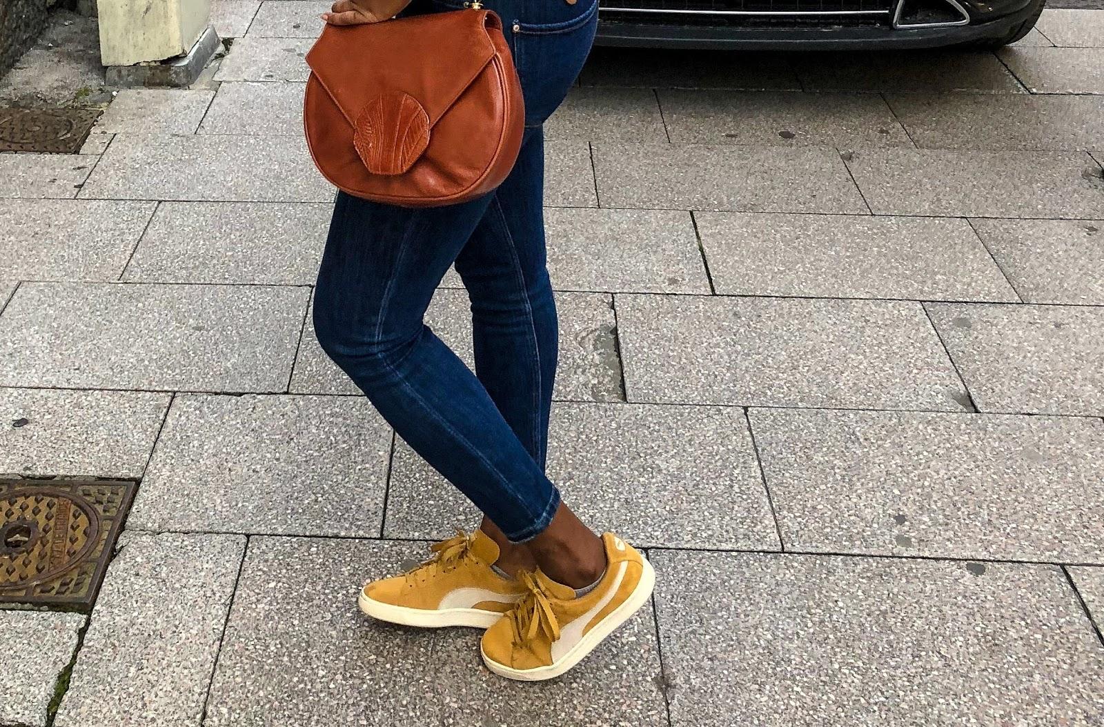 PUMA SUEDE jaune moutarde