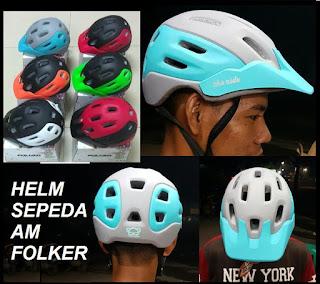 Helm Sepeda FOLKER AM mirip Fox Flux