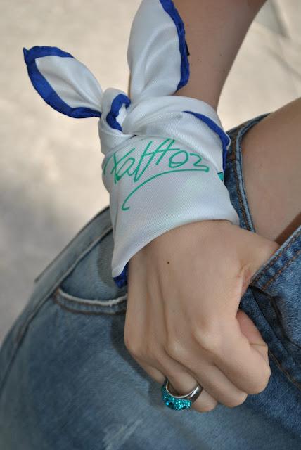 bandana fattori anello luca barra come abbinare la bandana come indossare la bandana modi per indossare la bandana mariafelicia magno fashion blogger colorblock by felym outfit giugno outfit casual fattori abbigliamento