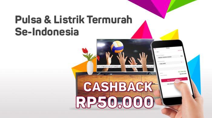 Bukalapak - Voucher Cashback s.d 50 Ribu Agustus 2018