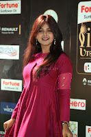 Monal Gajjar in Maroon Gown Stunning Cute Beauty at IIFA Utsavam Awards 2017 062.JPG