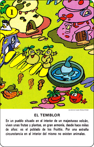 Baraja Los Fruittis Carta amarilla 1
