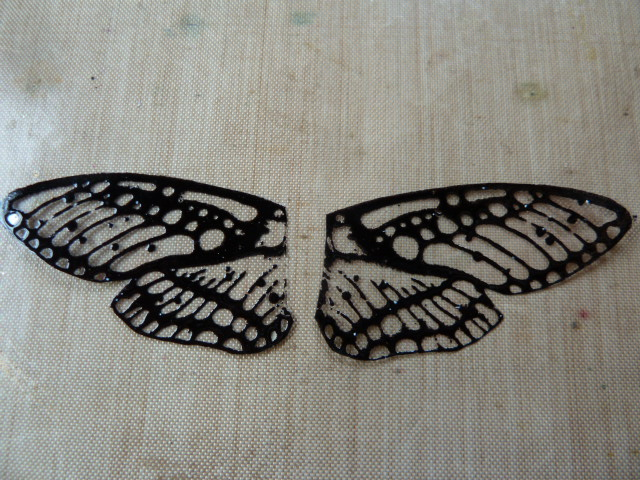 moth stamp wings