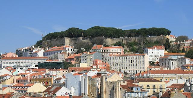 Castillos-de-Portugal, vistas al Castillo de San Jorge