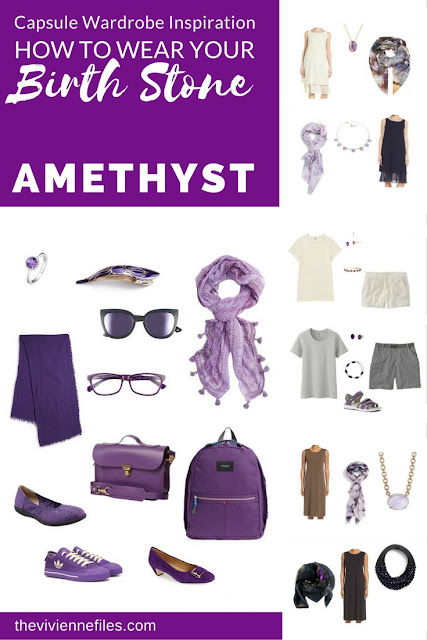 How to wear your birth stone - Amethyst in a Capsule Wardrobe