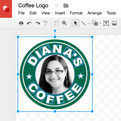 Using Google Drawings to Create SVG Cut Files - personalized coffee logo