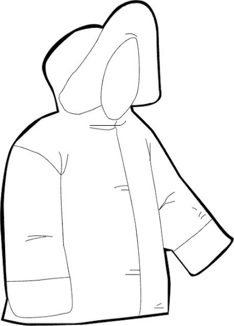 abrigo para colorear