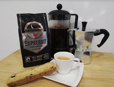 Source: Cafédirect. The new Cafédirect 100% Arabica Espresso Roast and Ground Coffee delivers an intense flavour with a sweet finish. Consider pairing with butter for a decadent experience.