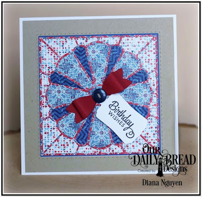 Dresden Quilt Die, Americana Paper Collection, Double Stitched Square Die, Our Daily Bread Designs, Designed by Diana Nguyen