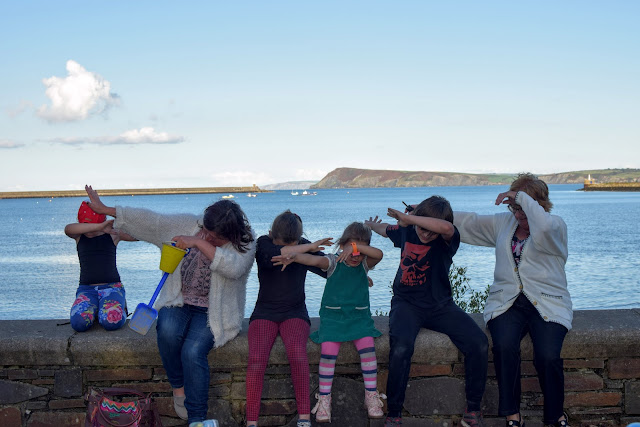 dab, the dab, family do the dab, dab pose, Goodwick, Pembrokeshire, Goodwick Parrog, The Parrog, Goodwick Sands Beach, Fishguard, breakwater, coastal town, harbour, village, park, play park, free family day out, day out, fun day out,