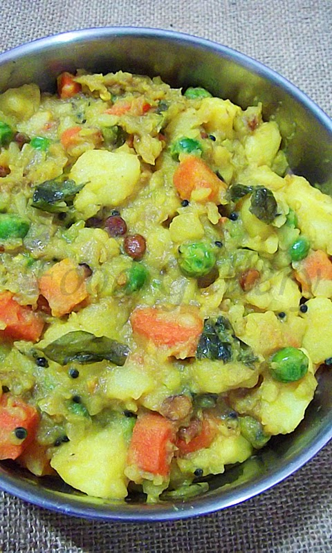 Potato masala for dosa, Dosa masala