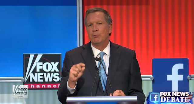John Kasich Fox News Republican debate August 6