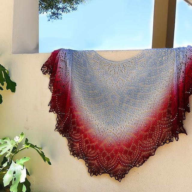 chusta na drutach - wzor