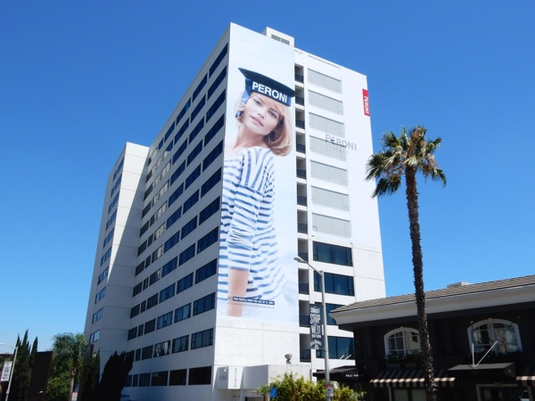 Giant Natalia Borges Peroni beer Sailor Girl billboard