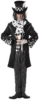 Men's Dark Mad Hatter Adult Costume for Halloween