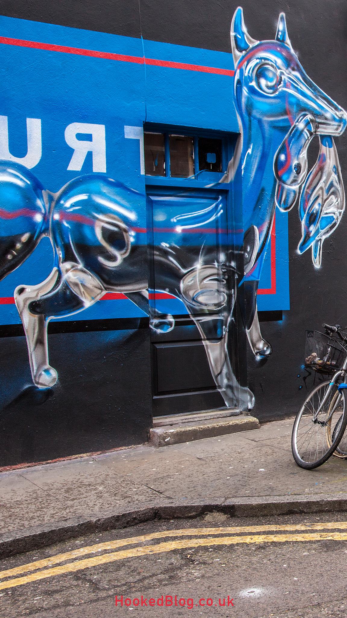 Fanakapan, London Street Art Mural on Hanbury Street, London. Photo ©Hookedblog / Mark Rigney