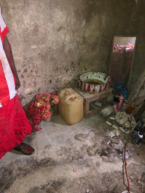 nativee - Native Doctor Repents After Pastor Stormed His Shrine In Delta State (Photos)