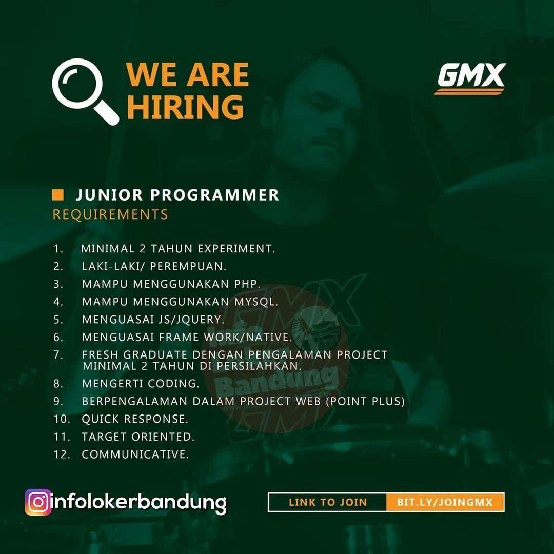 Lowongan Kerja GMX Bandung Januari 2019