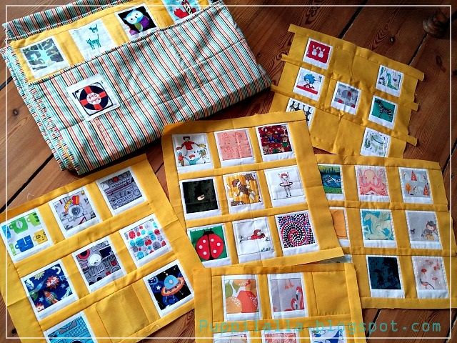 Polaroid Photo Quilt, Puppilalla, Patchwork, completed quilt, orphan blocks