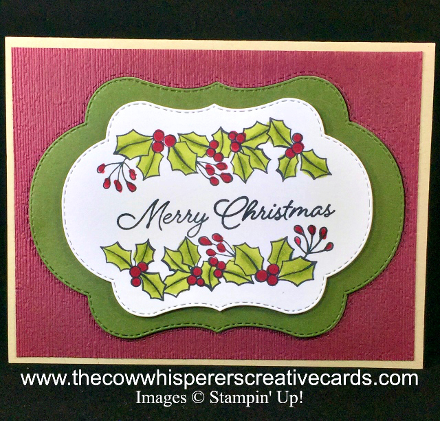 Blended Seasons, Stitched Seasons Framelits Dies, Card, Christmas, Holly