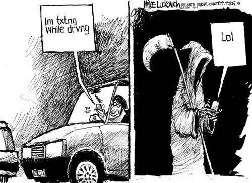 Texting while driving as a serious issue and crime