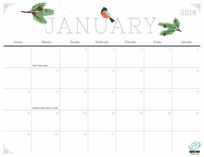 free 2018 calendar pdf