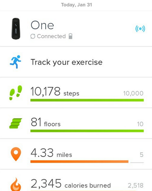 cascade head trail oregon fitbit one