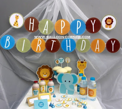 Bunting Banner HAPPY BIRTHDAY Jungle Animals