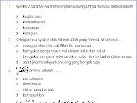 Soal UKK PAI Kelas 4 Agama Islam