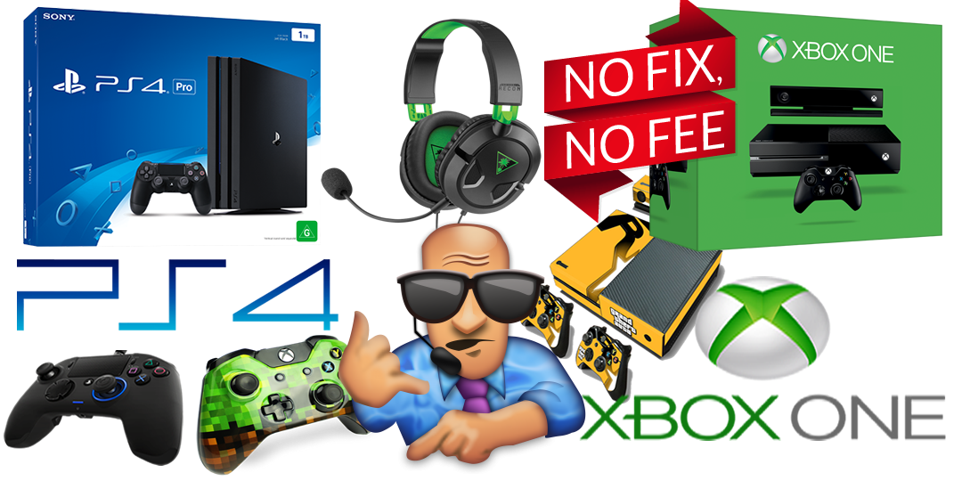 Games Console repairs Derby, Xbox One & PS4