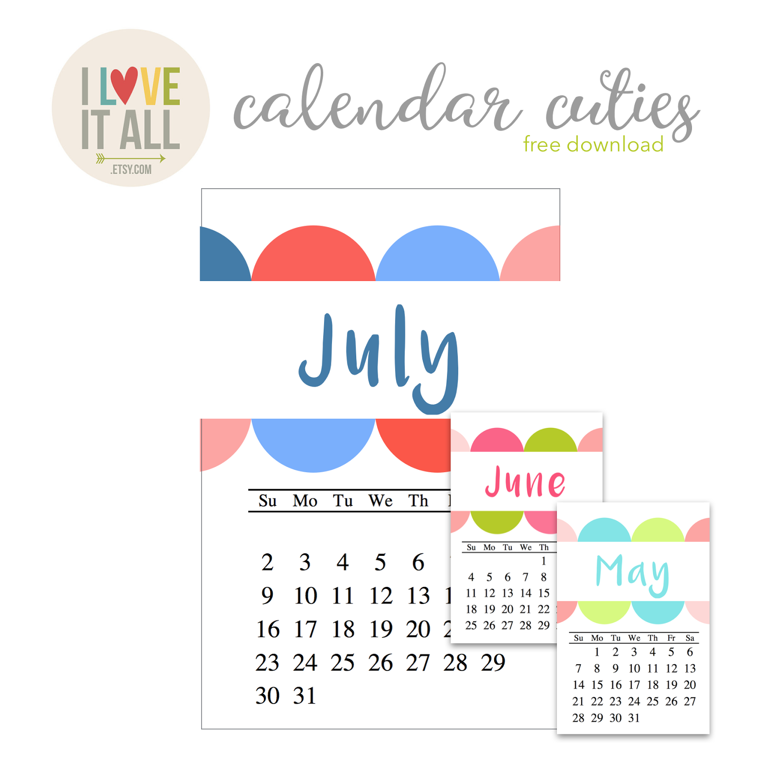 #calendar, #project life #scrapbooking #Filofax #planner #printable #July calendar #free calendar