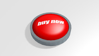 a simple 3D blender render of a red button