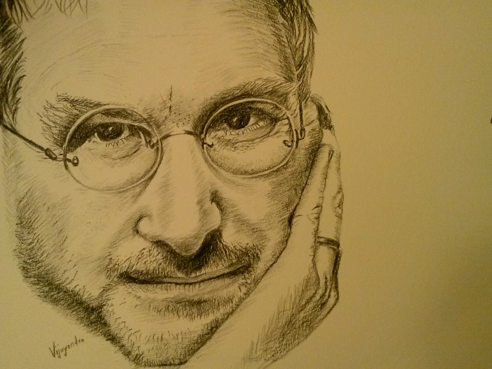 Pencil sketch of steve jobs