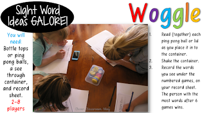5 Sight Word Activities that are FUN: Woggle