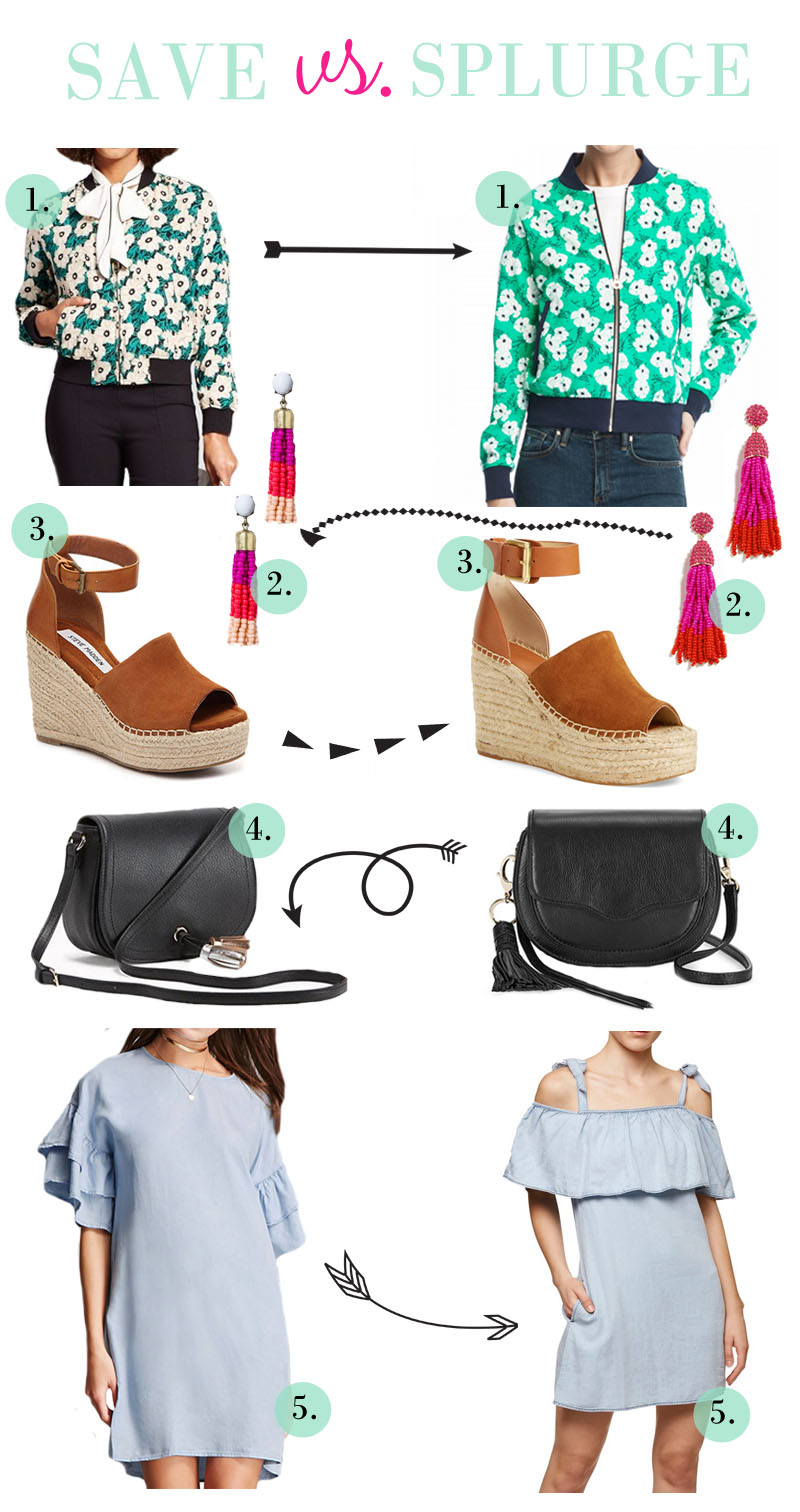 Save vs. Splurge - Spring Style Favorites by fashion blogger Laura of Walking in Memphis in High Heels