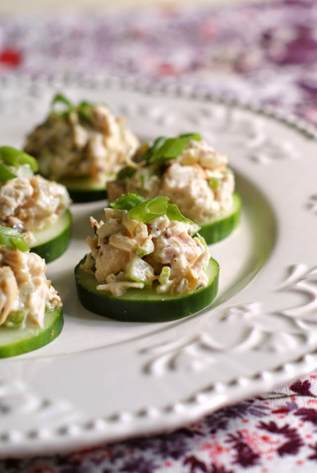 Chicken Salad Cucumber Rounds