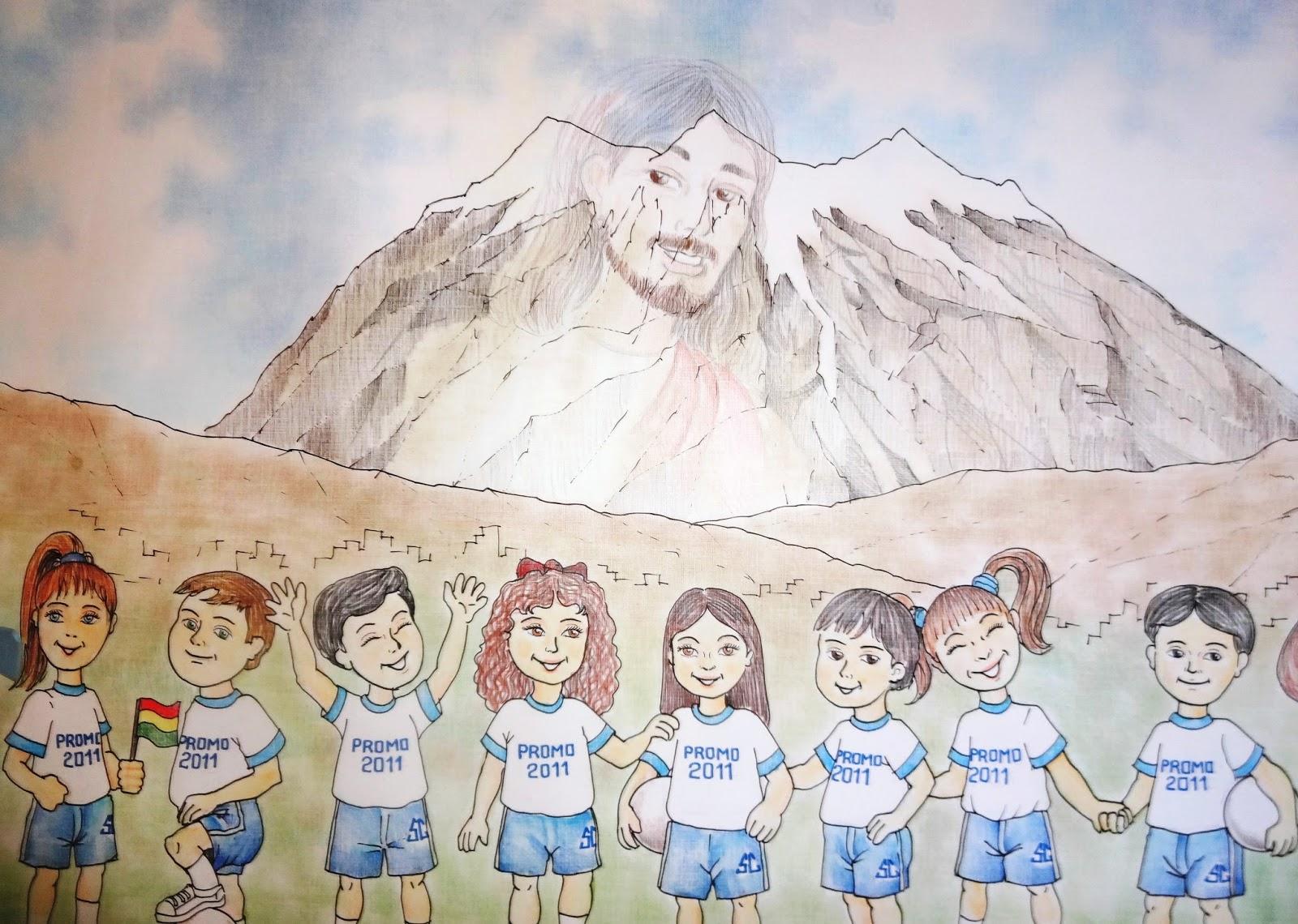 IlustracionesCroquizador7 : Jesus Y El Nevado Illimani En