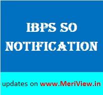 IBPS SO Notification 2015-16