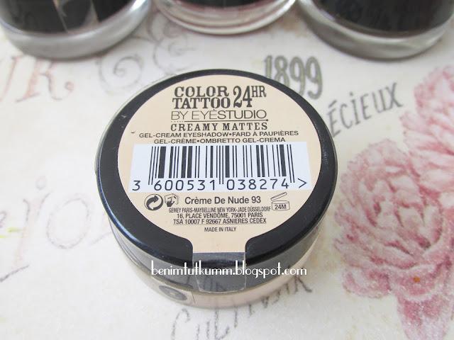 Maybelline Color Tatto Creamy Mattes Creme de Nude