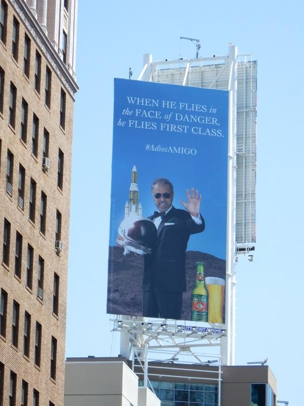 Dos Equis face danger first class billboard