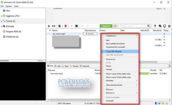 Creare e condividere file torrent