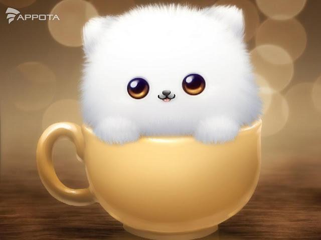 Hình nền chú mèo cực kỳ dễ thương