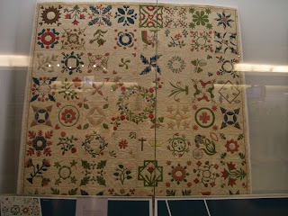 19th century album quilt in the Smithsonian Museum of American History.