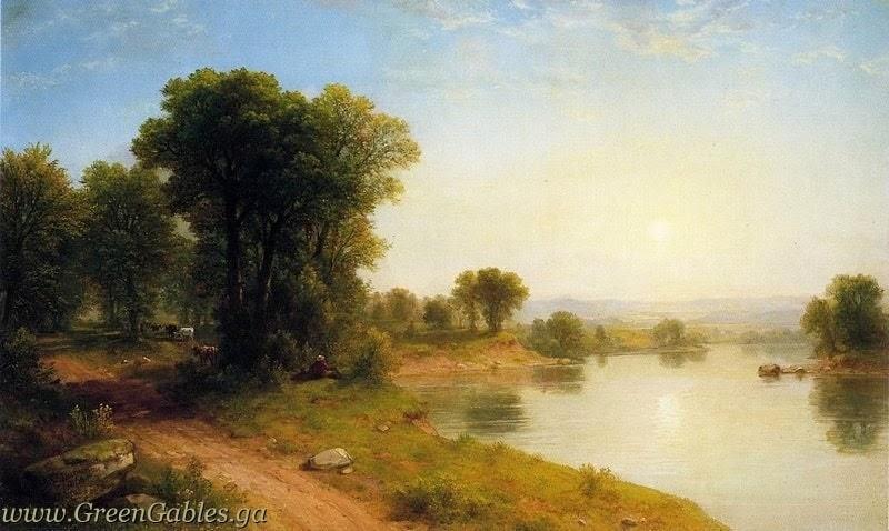 Sunshine landscape near the lake