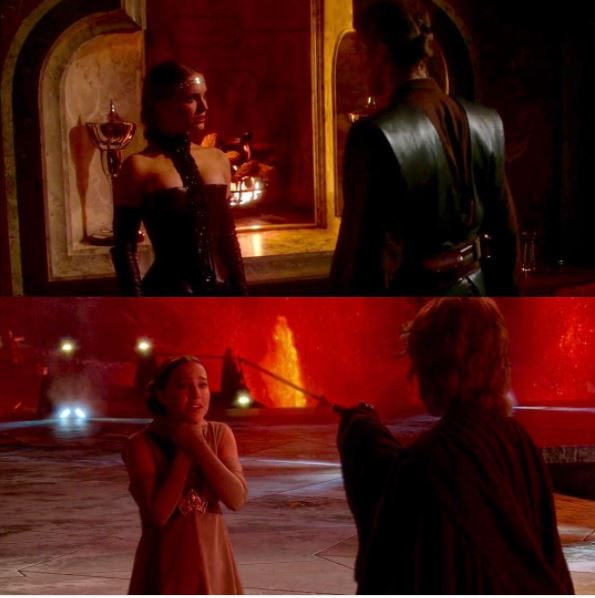 anakin choking padme revenge sith