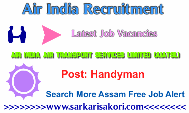 Air India Recruitment 2017 Handyman